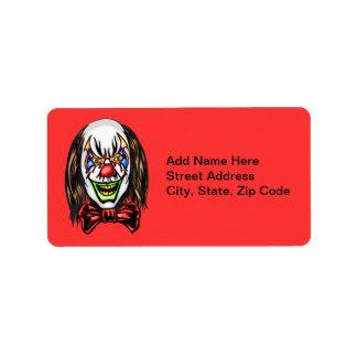 Heartless Evil Clown Address Label