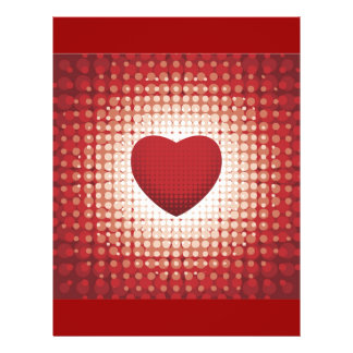 Hearts1314 red white heart shapes love sweetheart 21.5 cm x 28 cm flyer