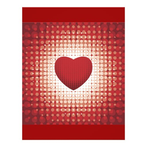 Hearts1314 red white heart shapes love sweetheart flyer design