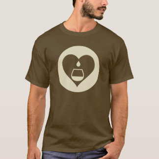 Hearts2Tails Cream Graphic Logo Men's T-Shirt