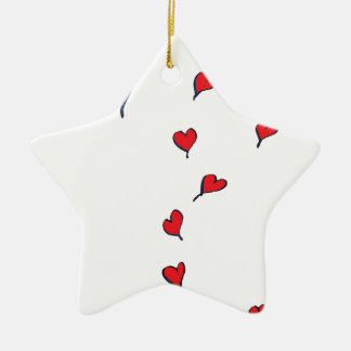 hearts 1 by tony fernandes christmas ornament