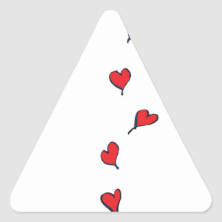 hearts 1 by tony fernandes triangle sticker
