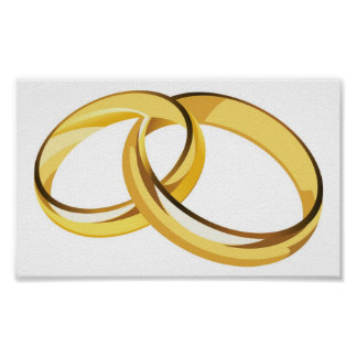 hearts (7), wedding rings poster