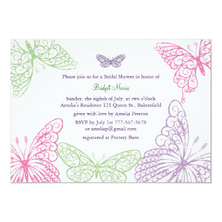 Heart's a Flutter Bridal Shower Invitation