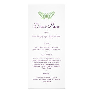 Heart's a Flutter Menu in green