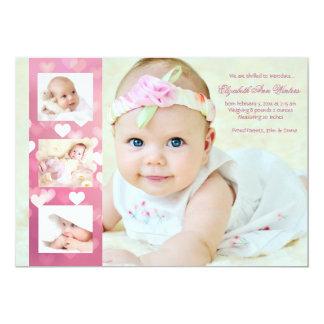 Hearts-A-Plenty - Photo Birth Announcement