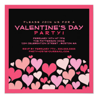 Hearts A Plenty Valentines Day Party Invitation