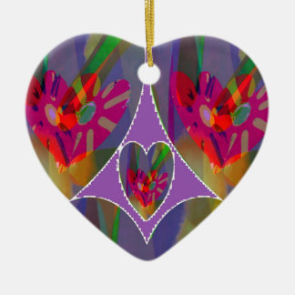 Hearts Abstract Christmas Tree Ornament