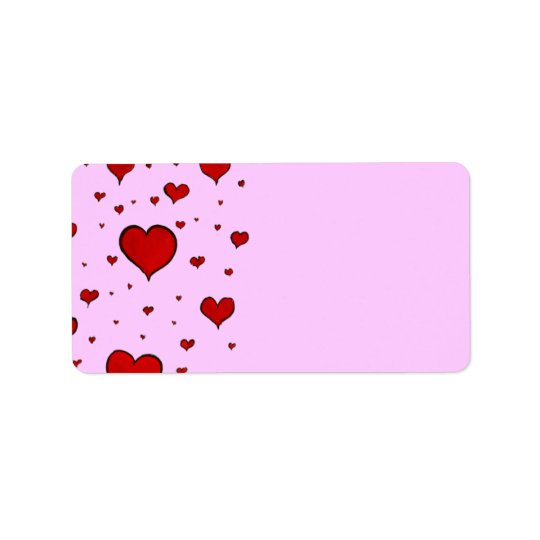 Hearts Address Labels