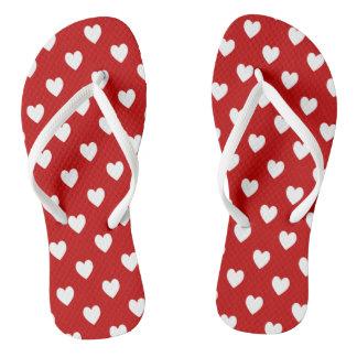 Hearts Adult, Slim Straps Flip Flops