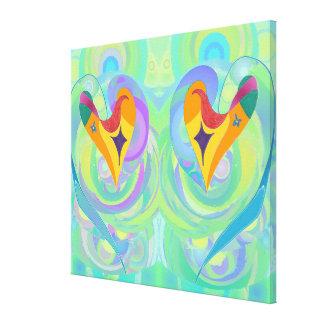 Hearts All At Sea Duo, medium Canvas Print