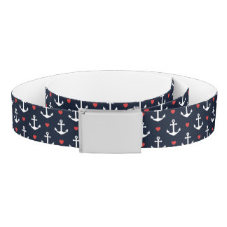 Hearts And Anchors Pattern Belt