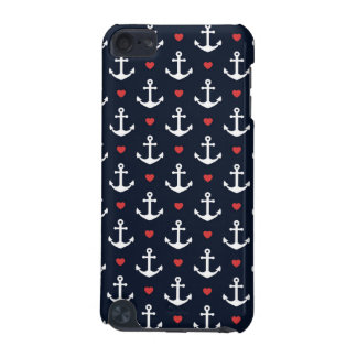 Hearts And Anchors Pattern iPod Touch (5th Generation) Cover