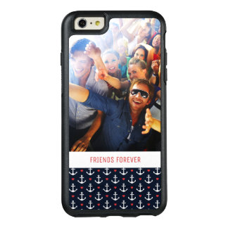 Hearts And Anchors Pattern   Your Photo & Text OtterBox iPhone 6/6s Plus Case