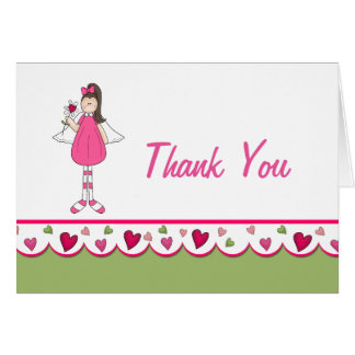 Hearts and Angels Thank You Note Card