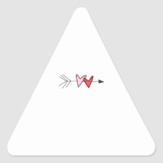 HEARTS AND ARROW TRIANGLE STICKERS