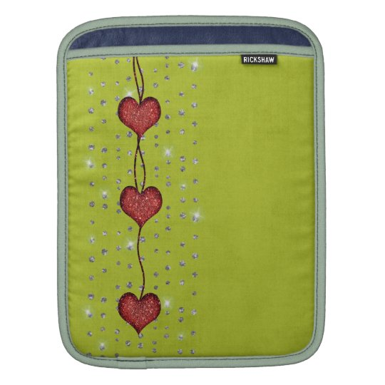 Hearts and Bling look On Bright Green - Mac Sleeve