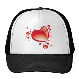 Hearts and bubbles on black bottom - trucker hats