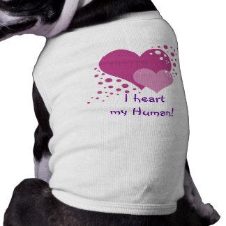Hearts And Bubbles Sleeveless Dog Shirt