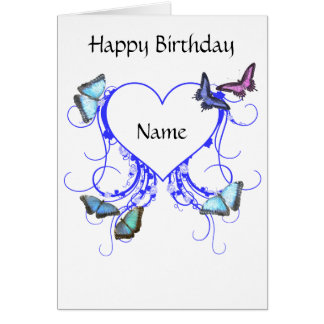 Hearts and Butterflies Greeting Card