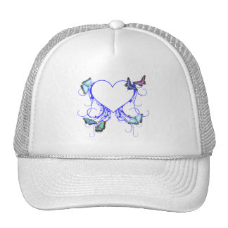 Hearts and Butterflies Trucker Hats
