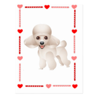 Hearts and Candy Poodle Postcard