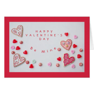 Hearts and Candy Valentine Card