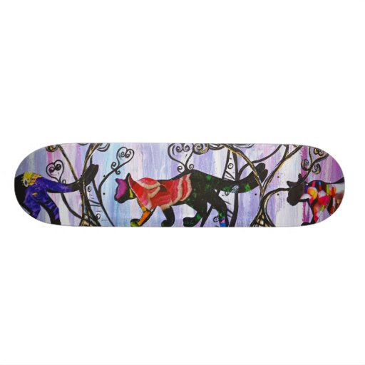 Hearts and Cats Skateboard