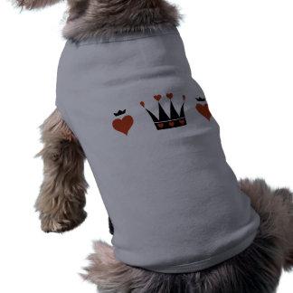 Hearts and Crowns Motif Sleeveless Dog Shirt