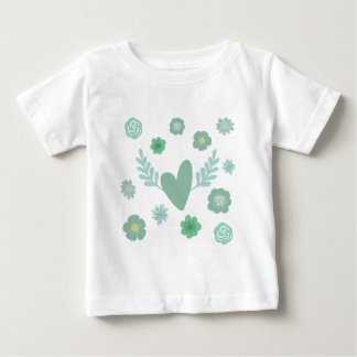 Hearts and Flowers Baby T-Shirt