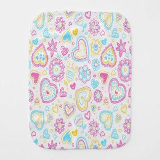 Hearts and Flowers/Burp Cloth Burp Cloths