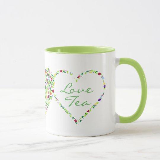 Hearts and Flowers, Love Tea Mug