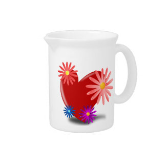 Hearts and Flowers Pitcher
