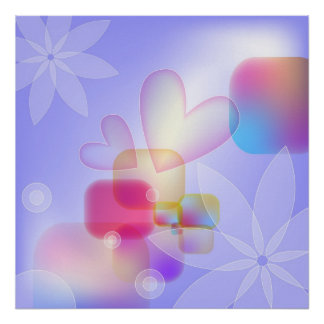 Hearts and Flowers (small size $12.80) Poster