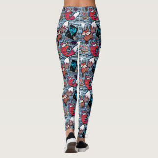 Hearts and Foxes Patterned Leggings