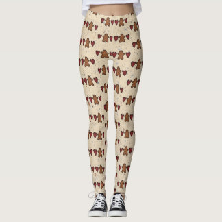 Hearts And Gingerbread Man Leggings