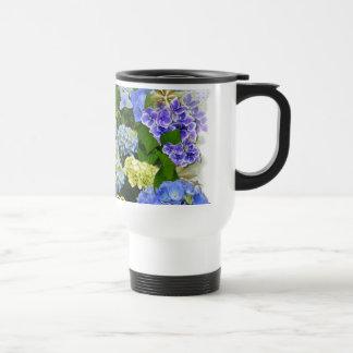 Hearts and Hydrangeas Travel Mug