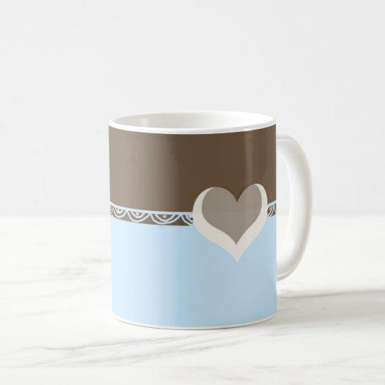 Hearts and Lace Design Coffee Mug