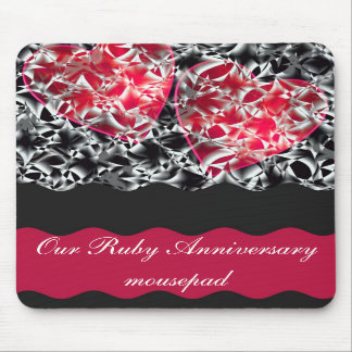 Hearts and lace mouse mats