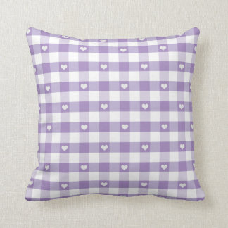 Hearts and Pastel Gingham Cushion