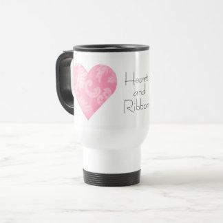 Hearts and Ribbons Travel Mug
