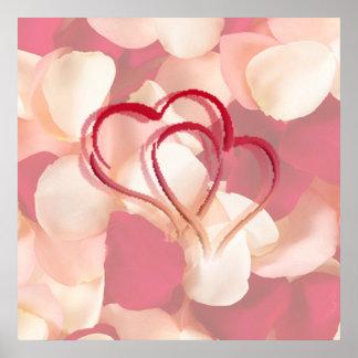 hearts and rose petals AUTOGRAPH POSTER