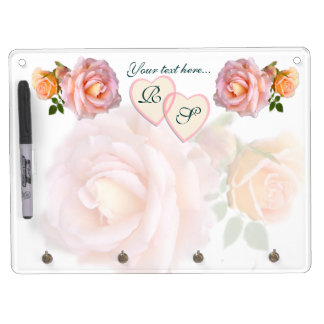 Hearts and Roses Dry Erase Board With Key Ring Holder