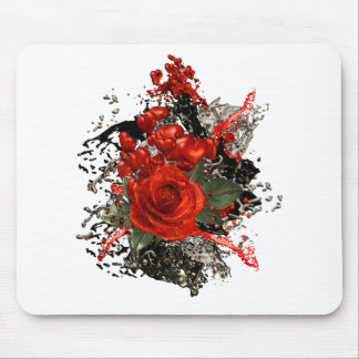 Hearts and Roses, gothic design Mouse Mat