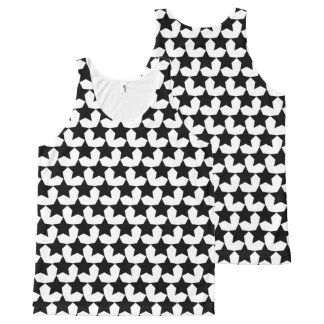 HEARTS AND STARS BLACK/WHITE TANK TOP