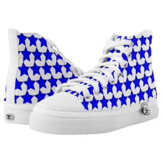 HEARTS AND STARS BLUE/WHITE  HIGH-TOP SNEAKER