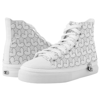 HEARTS AND STARS GREY/WHITE HIGH-TOP SNEAKER