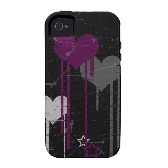 Hearts and Stars iPhone 4/4s Vibe case