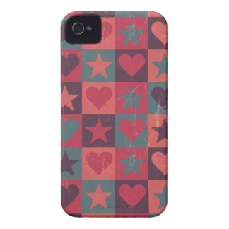 Hearts And Stars Pattern Pink Case-Mate iPhone 4 Cases