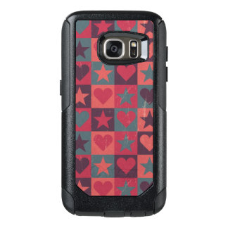 Hearts And Stars Pattern Pink OtterBox Samsung Galaxy S7 Case